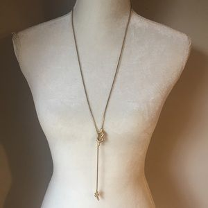 4 for $12: Gold Tone Knot Long Necklace
